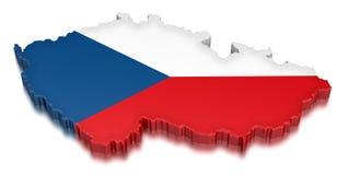 捷克(包括的裁减路线) 免版税图库摄影