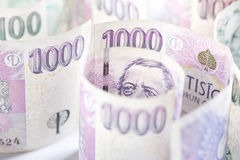 捷克货币 免版税库存照片