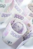 捷克货币 免版税图库摄影