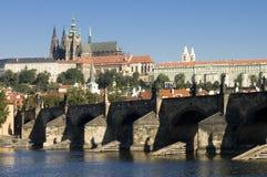 捷克hradcany布拉格共和国 库存图片