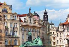 捷克hus 1月纪念布拉格共和国 图库摄影