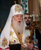 捷尔诺波尔州,乌克兰–DeÑ  18日2018年:团结的autocephalous乌克兰东正教Filaret的名誉族长在a期间的 库存图片