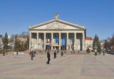 捷尔诺波尔市剧院,西乌克兰 图库摄影