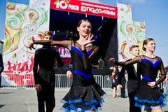 捷尔诺波尔,乌克兰- 2017年10月1日:在Po的交谊舞孩子 库存照片