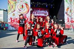 捷尔诺波尔,乌克兰- 2017年10月1日:在Podoly的现代舞孩子 免版税库存照片