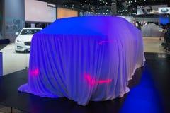捷豹汽车在显示的首演汽车 免版税库存图片
