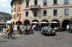 捷豹汽车在Mille Miglia的XK 120 2015年 库存图片