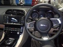 捷豹汽车被烙记的innerview新 免版税库存照片