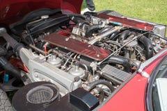 捷豹汽车E类型引擎 库存图片