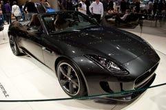 捷豹汽车F型的日内瓦2014年 免版税库存图片