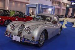 捷豹汽车XK 140 1956年汽车 免版税库存图片