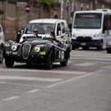 捷豹汽车XK 120轻量级选手1950年mille miglia 2014年 库存照片