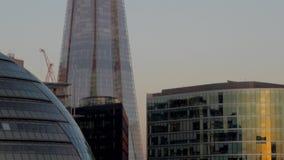 掀动射击了在碎片伦敦下 股票视频
