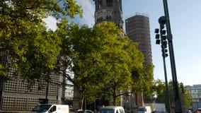 掀动Kaiser威谦廉纪念品教会的尖顶 影视素材