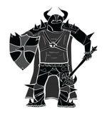 授以爵位与剑和盾详述的传染媒介剪影 免版税图库摄影