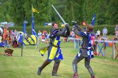 授以爵位与英国战斗的剑 库存照片