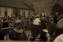 授以爵位中世纪 图库摄影
