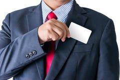 去掉从busi的口袋的名片的商人 库存图片