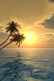 掌上型计算机sunset2 v 库存图片
