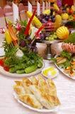 排列创造性的食物 库存图片