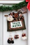 排列圣诞节快活的葡萄牙 免版税库存照片