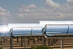排列太阳大量的面板 库存图片