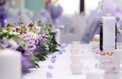 排列承办酒席婚礼 免版税图库摄影
