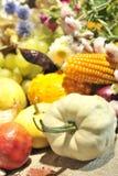 排列果菜类 免版税库存图片
