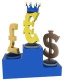排列的货币-欧洲控制权 免版税图库摄影