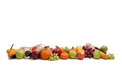 排列秋天果菜类 免版税库存图片