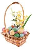 排列篮子花卉复活节 免版税库存图片