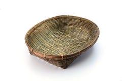 排列背景篮子空的花果子礼品项目常用的白色 免版税库存图片