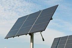 排列能源面板光致电压可延续太阳 库存图片