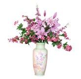 排列花卉大 库存图片