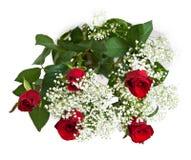 排列花卉玫瑰 免版税库存图片