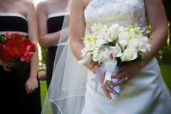 排列花束花婚礼 免版税图库摄影