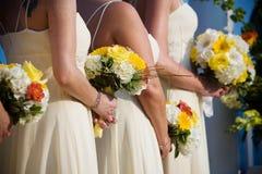 排列花束花婚礼 库存照片