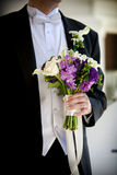 排列花束花婚礼 库存图片
