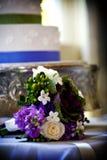 排列花束花婚礼 免版税库存照片