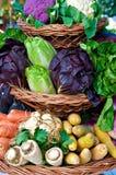 排列蔬菜 免版税库存图片