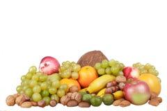 排列被分类的果子 图库摄影