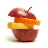 排列被分类的果子 库存图片