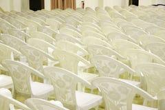 排列观众席就座 库存图片