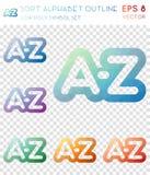 排序字母表概述几何多角形象 库存例证