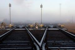 排序岗位的铁路 库存图片