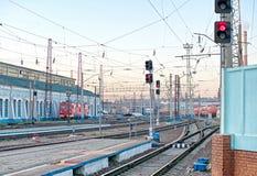 排序火车站 库存照片