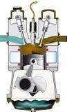 排气冲程 库存图片