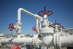 排气管处理VA的油管工厂 免版税库存图片