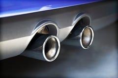 排气管污染 免版税库存照片
