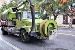 排水设备卡车珠海 免版税库存照片